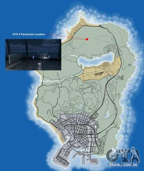 Onde encontrar o pára-quedas no GTA 5