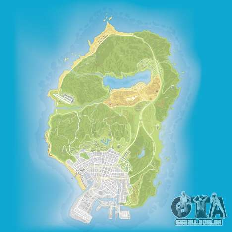 Atlas e mapa de Grand Theft Auto 5