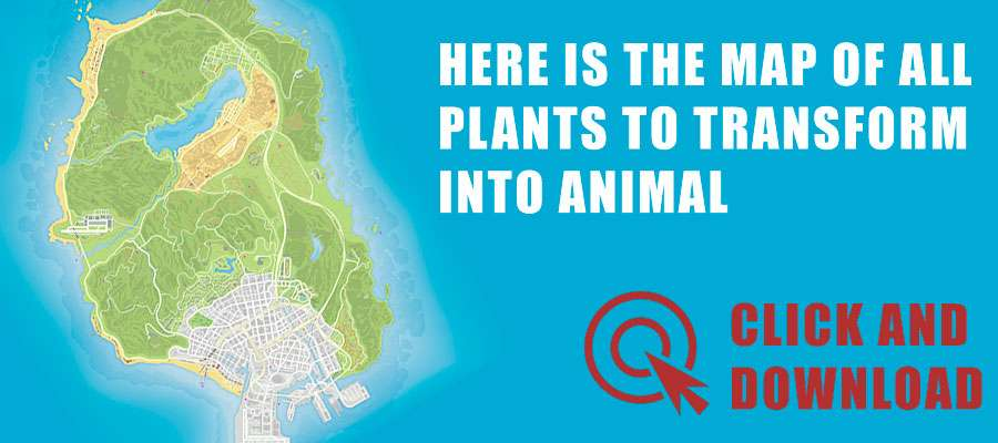 Map of all plants to turn into an animal