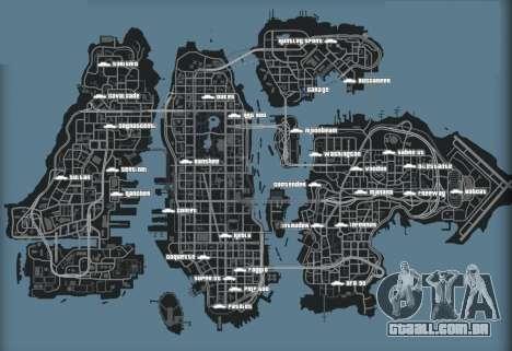 Mapa de carros no GTA 4