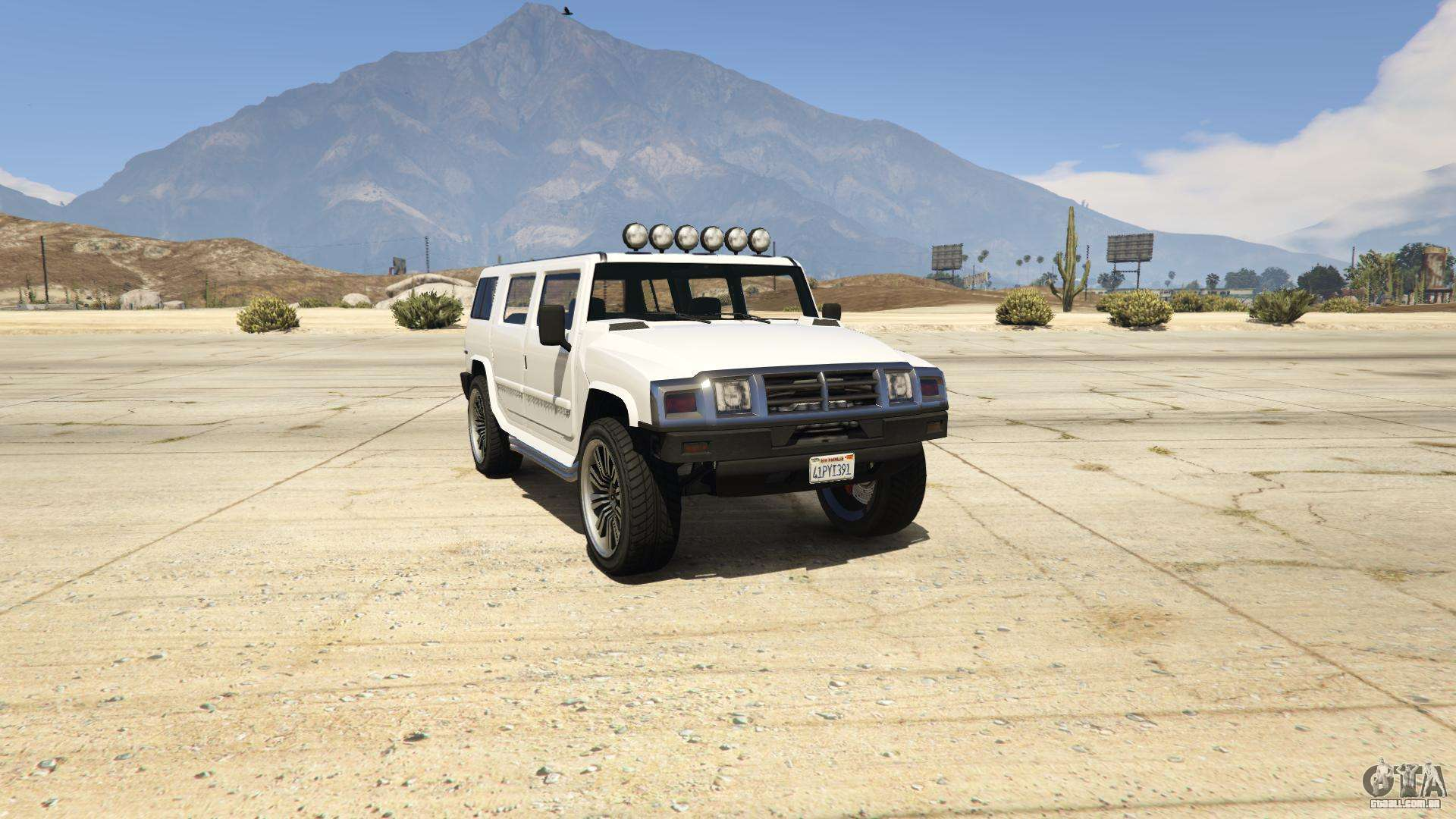 GTA 5 Mammoth Patriot - vista frontal