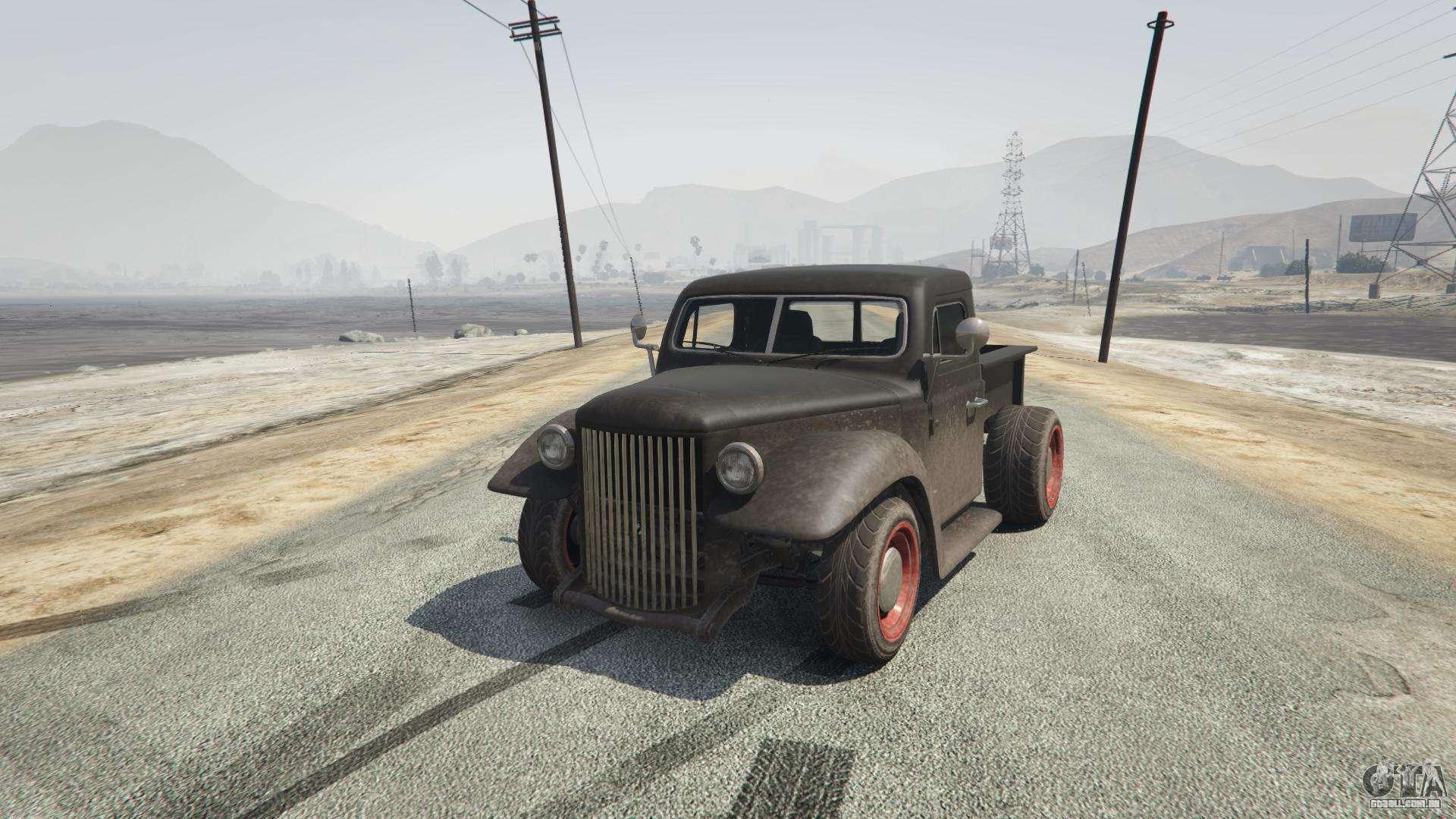 Rat-Caminhão de GTA 5 - vista frontal