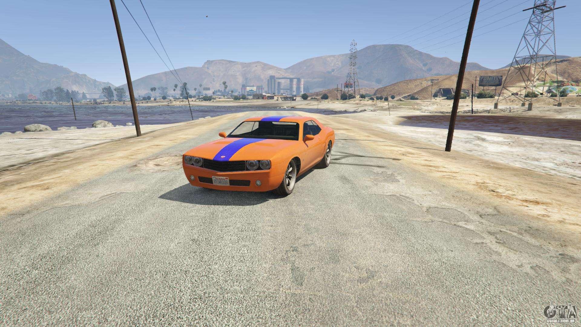 Gauntlet do GTA 5 - vista frontal