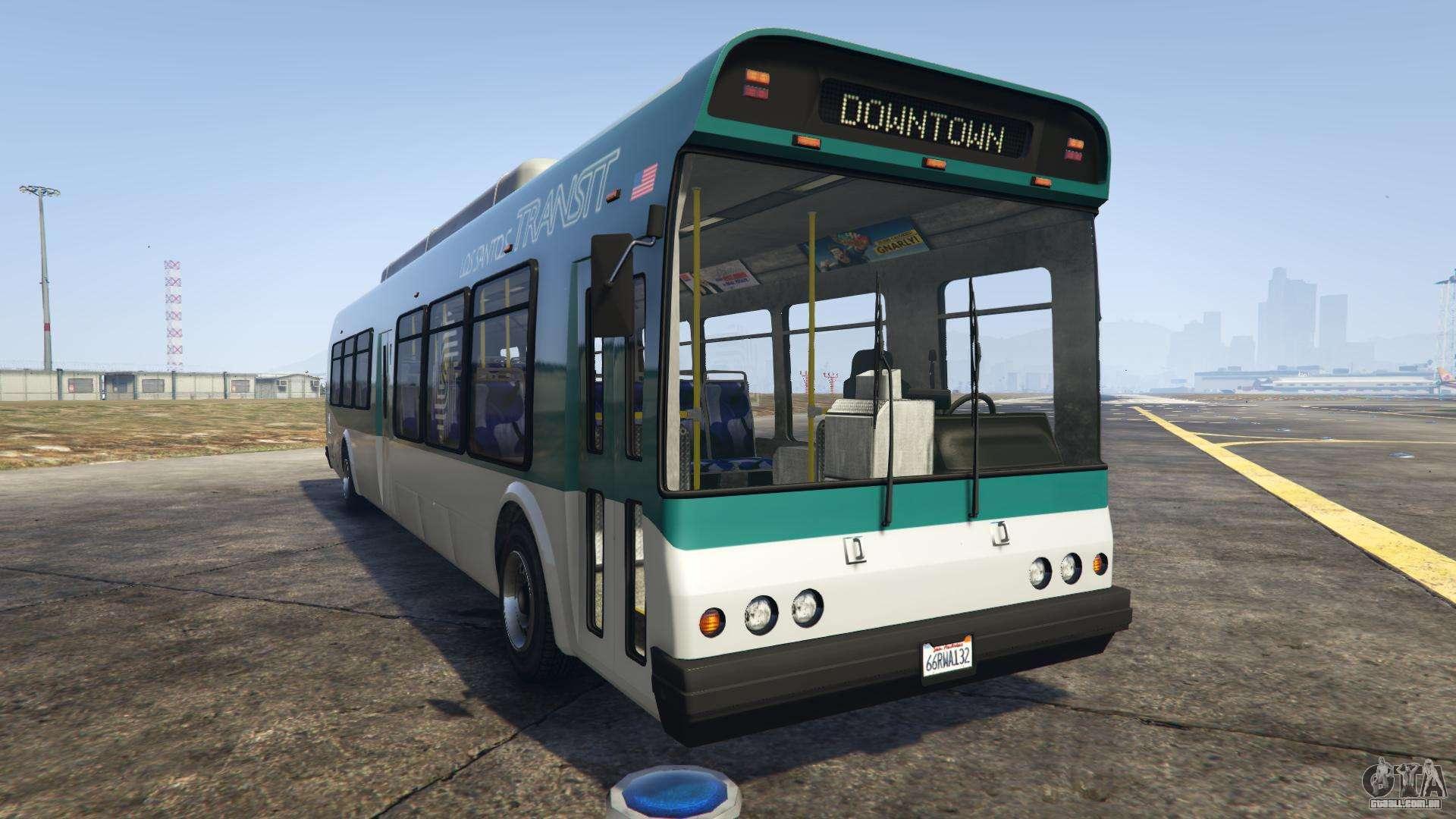 GTA 5 Brute Bus - vista frontal