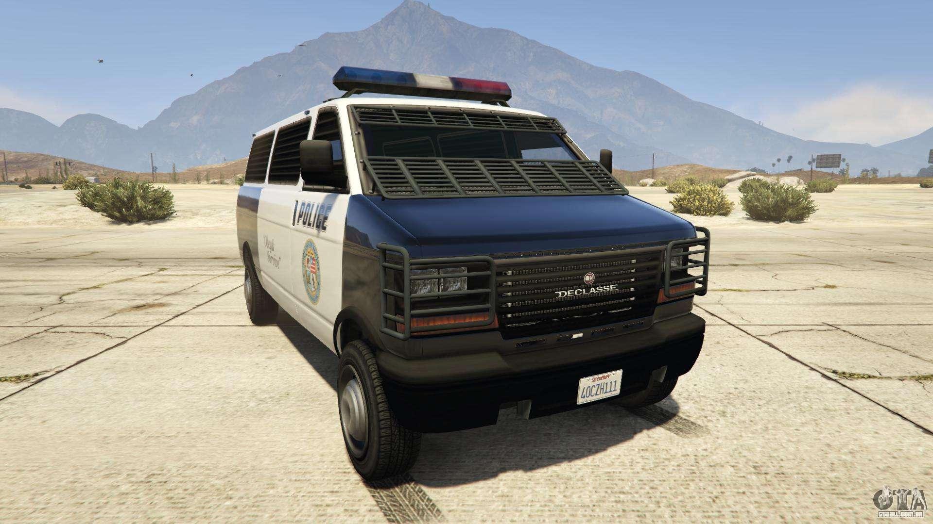GTA 5 Declasse Police Transporter - vista frontal
