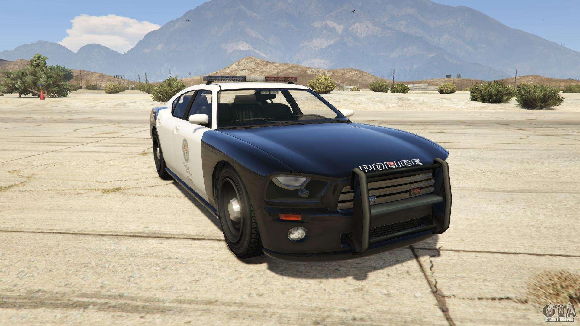 GTA 5 Bravado Police Buffalo - vista frontal