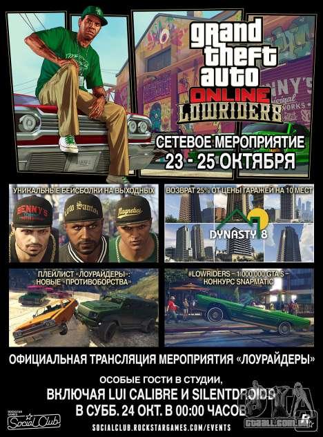 Lowriders GTA On-line de Eventos de fim de Semana