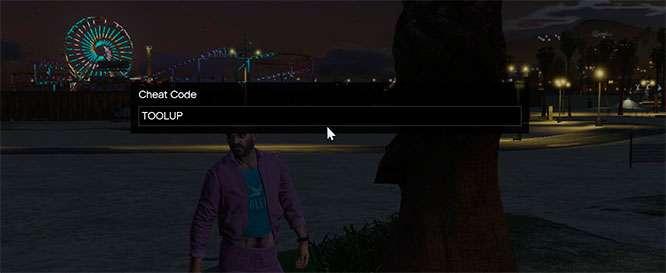 Como inserir codigos de trapaca atraves da console de jogos de GTA 5