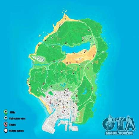 eventos Aleatórios do mapa de Grand Theft Auto 5