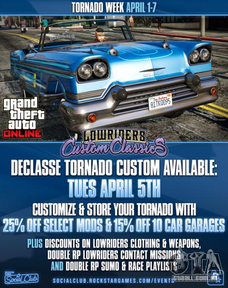 Tornado Semana em GTA Online