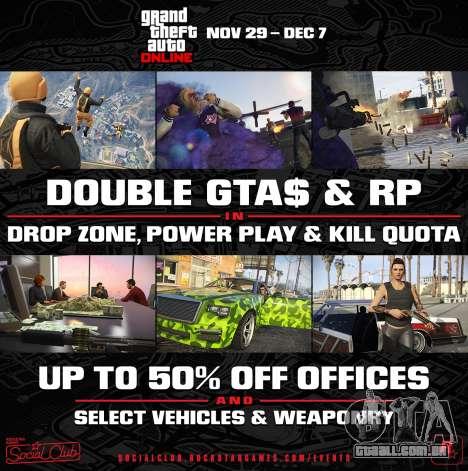Update-o Criador e o double bonus em GTA Online