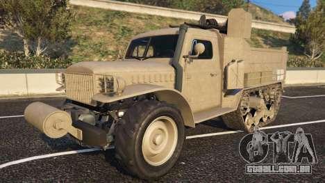 Bravado Half-track aus dem GTA 5-vue de rosto