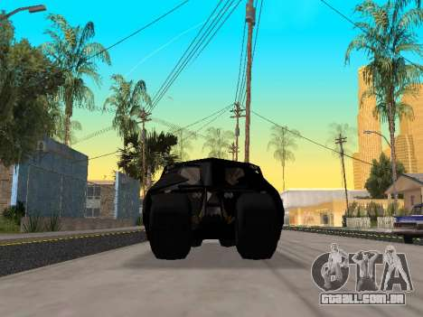 Tumbler Batmobile 2.0 para GTA San Andreas vista interior