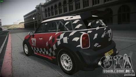 Mini Countryman WRC para GTA San Andreas traseira esquerda vista