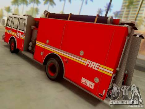 E-One FDNY Ladder 291 para GTA San Andreas esquerda vista