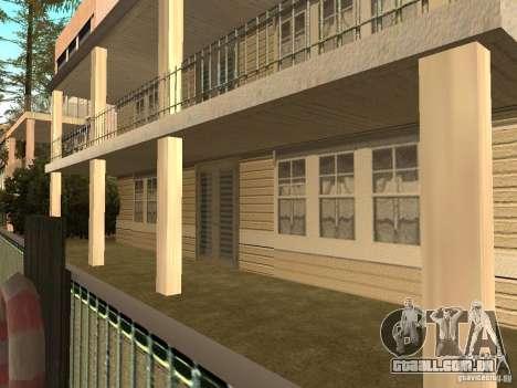 Casa na praia de Santa Maria 2.0 modificada para GTA San Andreas por diante tela