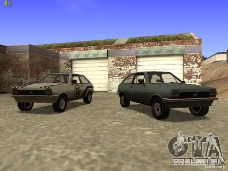 Ford Fiesta 1981 para GTA San Andreas vista traseira