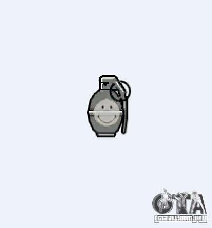 Smiley Granate para GTA 4 por diante tela