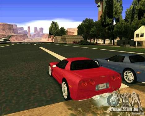 Chevrolet Corvette C5 z06 para GTA San Andreas esquerda vista
