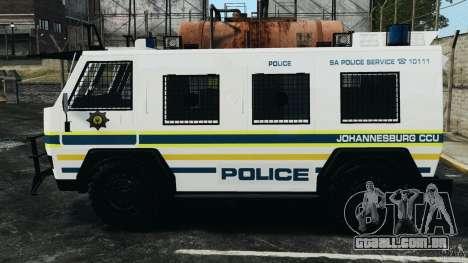 RG-12 Nyala - South African Police Service para GTA 4 esquerda vista