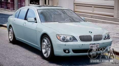 BMW 7 Series E66 para GTA 4 esquerda vista
