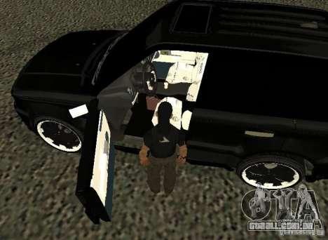 Land Rover Range Rover Sport Hamann para GTA San Andreas vista traseira