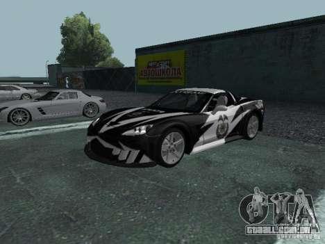 Chevrolet Corvette C6 para GTA San Andreas interior