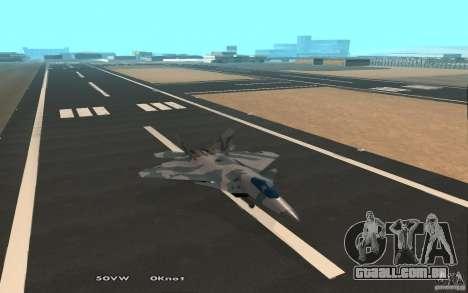 F/A-22 Velociraptor para GTA San Andreas vista traseira