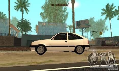 Opel Kadett E para GTA San Andreas esquerda vista