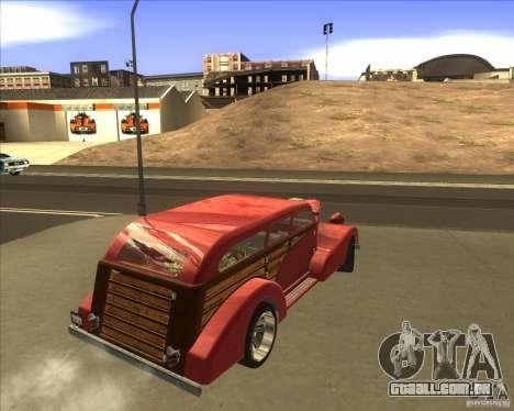Custom Woody Hot Rod para GTA San Andreas esquerda vista