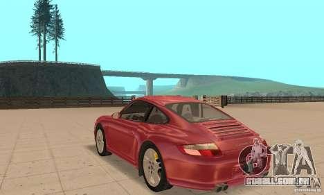 Porsche 911 (997) Carrera S v1.1 para GTA San Andreas traseira esquerda vista