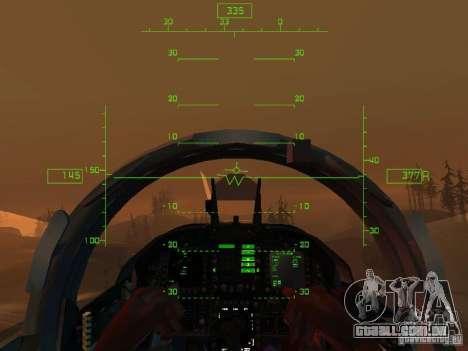 Aviação HUD para GTA San Andreas quinto tela