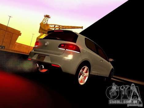 Volkswagen Golf R 2010 para vista lateral GTA San Andreas