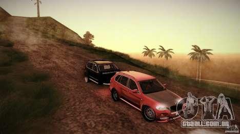 BMW X5 with Wagon BEAM Tuning para GTA San Andreas vista traseira