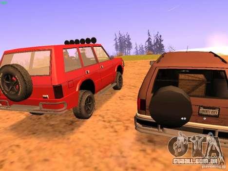 Huntley Superior para GTA San Andreas vista traseira