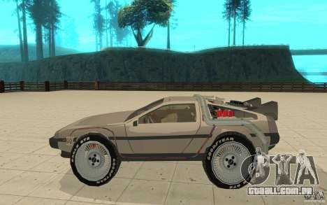 DeLorean DMC-12 (BTTF1) para GTA San Andreas esquerda vista