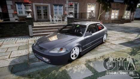 Honda Civic EK9 Tuning para GTA 4 vista de volta