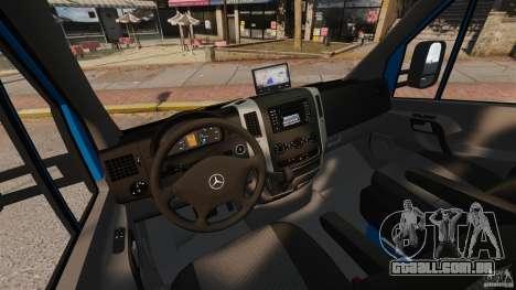 Mercedes-Benz Sprinter 3500 Car Transporter para GTA 4 vista interior