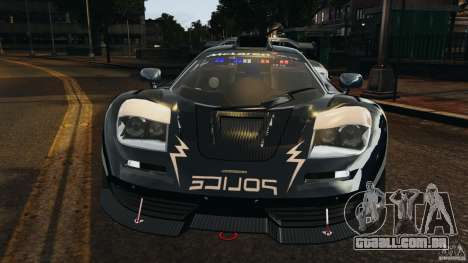 McLaren F1 ELITE Police [ELS] para GTA 4 vista lateral