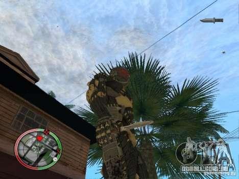 Coleção de armas de Crysis 2 para GTA San Andreas por diante tela