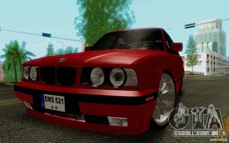 BMW E34 540i Tunable para GTA San Andreas esquerda vista
