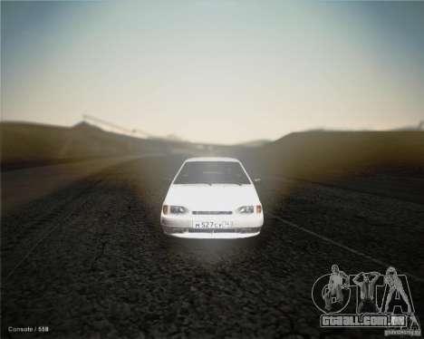 ВАЗ 2114 para GTA San Andreas esquerda vista