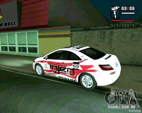 Honda Civic 2006 Coupe 1.1 para GTA San Andreas esquerda vista