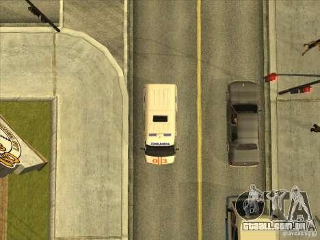 GÁS 22172 ambulância para GTA San Andreas vista traseira