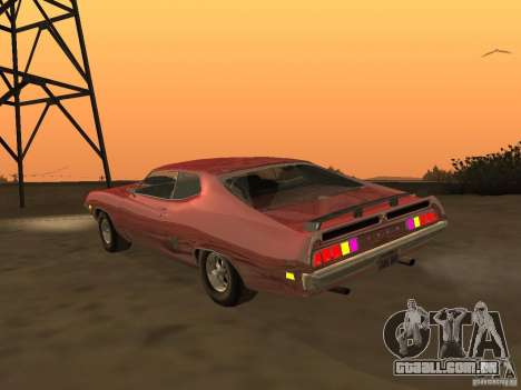 Ford Torino Cobra 1970 Tunable para GTA San Andreas traseira esquerda vista
