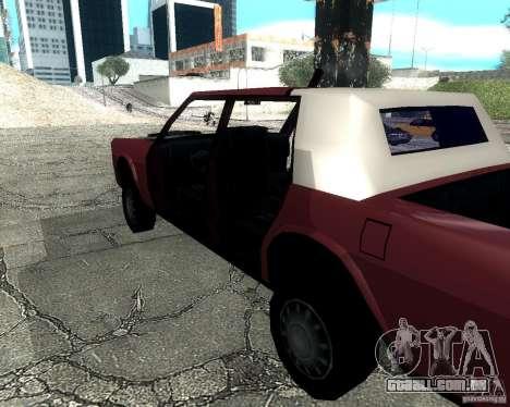 Derby Greenwood Killer para GTA San Andreas traseira esquerda vista