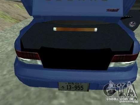 Subaru Impreza 22B STI para GTA San Andreas vista traseira