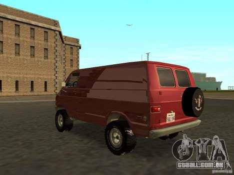 Dodge Tradesman 7z para GTA San Andreas esquerda vista