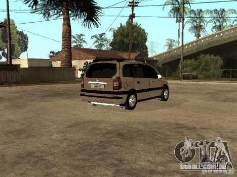 Opel Zafira para GTA San Andreas vista direita
