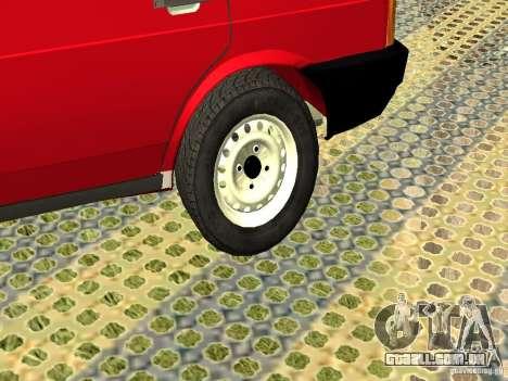2109 VAZ v2 para GTA San Andreas vista traseira